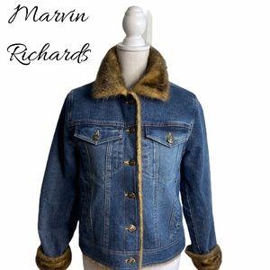 Marvin Richards Denim Jacket with Fur